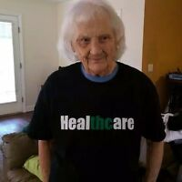 healTHCare   420 marijuana, weed, pot T-shirt RX legalize BHO 710 green