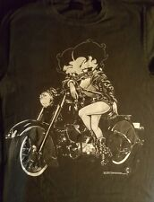 Vintage Sexy Betty Boop Motorcycle Club Black Mens T-Shirt Size L