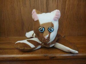 "VINTAGE 1985 TONKA Pound Purries Brown & White Kitty Cat 13"" Plush Pink Ears"