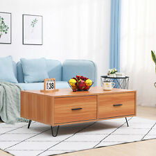 TV Stand Juyouli Furniture Modern Lving Room TV Stand Cabinet Coffee Table Lamp Table Grey With Oak Top