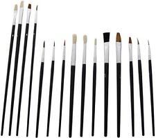 15PC Paint Brush Set Airfix Modelos Paisaje Etc maquetistas Traje Warhammer / 40k