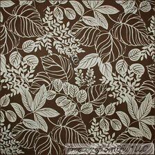 BonEful Fabric FQ Cotton Woven Decor Brown Cream Paisley Flower Shabby Chic Leaf