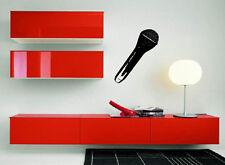 Hand Microphone Music Concert Rock Wall Decor Mural Vinyl Decal Art Sticker M555