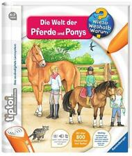 "Ravensburger TIPTOI 00608 - Book "" Die World of Horses and ponys "", NEW"