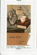 FRANCE 2012, timbre AUTOADHESIF, PEINTURE, CUBISME, TABLEAU Juan GRIS PAINTING