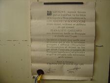 Ancien diplome brevet affiche COUSINERIE DE BOURGOGNE Vin Savigny les Beaune