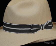 Hat band 4 - Fedora Men Sun Panama fedora Replacement GrosGrain Pleeted Ez Fit