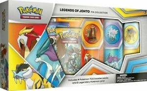 Legends of Johto Pin Collection Box Gamestop Exclusive Sealed Authentic Pokemon