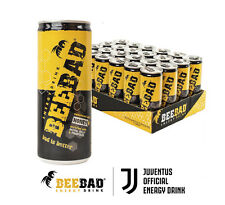 BEEBAD Honey Powered Energy Drink 250ml (pack of 24 cans). Natural Ingredients.