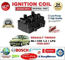 FOR RENAULT TWINGO Mk I C06 1.2 + LPG 1998-2007 IGNITION COIL 4PIN OVAL TYPE M4