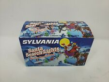Vintage Sylvania Santa Search Light  Christmas Outdoor Blow Mold Lighting RED