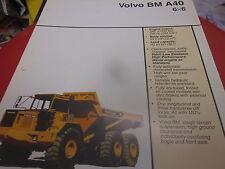 Volvo BM A40 6X6 Articulated Truck Brochure
