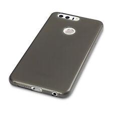 Huawei Honor 8 RUGGED CASE ad alto impatto Flessibile Micro Densità Fumo Gel Nero