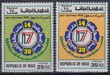 Irak Iraq 1978 ** Mi.947/48 Juli-Festival July-Festivals Emblem