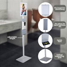 Soap Dispenser Stand Warning Pedestal Display Floor Standing Hand Disinfection