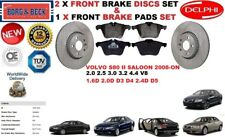 FOR VOLVO S80 II 2.0 2.4 2.5 3.0 3.2 SALOON FRONT BRAKE DISCS SET + PADS KIT
