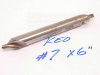 USED KEO HSS EXTENDED LENGTH CENTER DRILL COUNTERSINK #7 x 6""