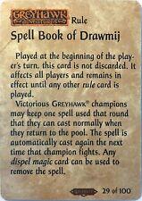 Spellfire Ravenloft Spell Book Of Drawmij 29/100