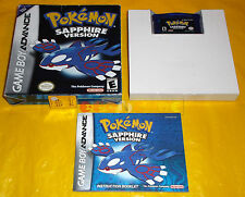 POKEMON SAPPHIRE VERSION (Zaffiro) Game Boy Advance Vers Americana ○○○○ COMPLETO