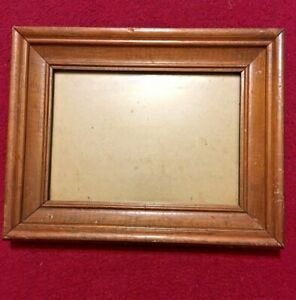 """Antique Hard Rock Tiger Maple Wood Wooden Picture Frame 9.5"""" X 7.5"""""""