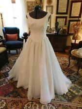 "Beautiful Ivory Vtg Nylon Organza & Pearls ""Priscilla Of Boston"" Wedding Gown 10"