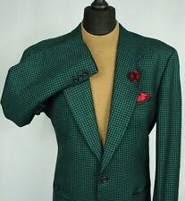 Tweed Blazer Chaqueta Verde Carlo Martino Lana Diseñador 44L increíble calidad 2203