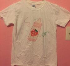 Harajuku Ulzzang Size Small T-shirt KOKOPIECOCO Strawberry Baby Bottle Japanese