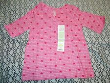 Kids Korner Girls 12 M Notch Neck Tunic Pink Shirt