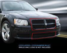 Black Billet Grille Grill COMBO Grill  Fits 2008-2010 Dodge Magnum
