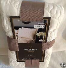 Fieldcrest Luxury Vermicelli One Standard Pillow Sham Ivory Off White New