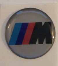 BMW  M Logo  Sticker Badge Decal 10mm - set of 4 Self Adhesive