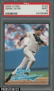 2004 Fleer Ultra #120 Derek Jeter New York Yankees HOF PSA 9 MINT