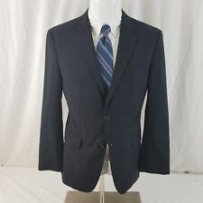 HUGO BOSS men's 36S navy blue 2 button wool Usa Sport coat suit jacket blazer h7