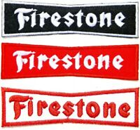 Patch Iron on Firestone Tires Advertising Car Truck Motorcycle Racing Sign Badge