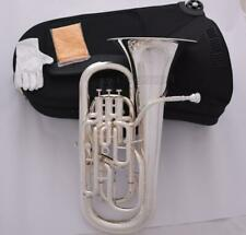 Professional silver plated Compensating Euphonium With Trigger Key Quality Horn