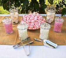7 SET LOLLY BUFFET SIMPLE - Glass Jars With Scoop Tong Glasses Jar CLASSYKIT  #5