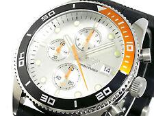 BRAND NEW EMPORIO ARMANI SPORT CHRONOGRAPH SILVER DIAL MEN WATCH AR5856