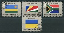 United Nations UN 2018 CTO Flag Series 55 Rwanda Seychelles 4v Set Flags Stamps