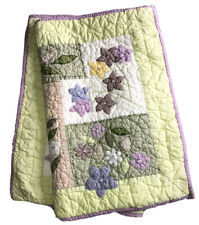 Two Retired Pottery Barn Standard Pillow Shams Quilted Pinks Green White Floral