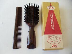 NIB RARE Vintage TORTOISE FULLER Hair Brush and Comb Set for BOY'S