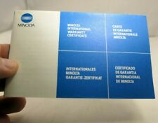 MINOLTA  warranty information  for Maxxum 70-210mm f4 AF  lens