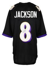 Lamar Jackson Signed Custom Black Pro-Style Football Jersey JSA
