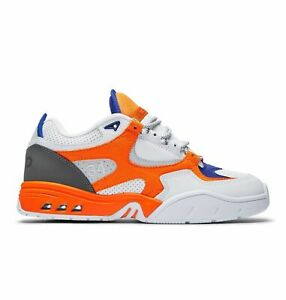 DC Kalis OG X JSP Men's Size 11 Fashion Sneakers Orange/White ADYS100583 (NEW)