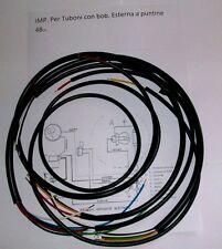 IMPIANTO ELETTRICO ELECTRICAL WIRING MOTORINO TUBONE 48 cc. CON SCHEMA ELETTRICO