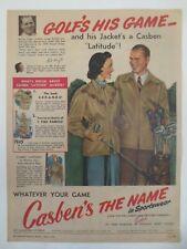Vintage Australian advertising 1949 ad CASBEN SPORTSWEAR CLOTHING golf art