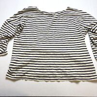 J Crew Deck Stripe Boater Tee Loose Fit Top Sz M A2249