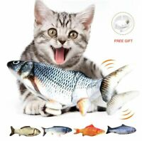 Electric Cat Toy Fish USB Charger Interactive Realistic Pet Chew Bite Floppy 30