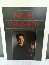 Nigel Kennedy violin - Advertising Flyer - Alice Tully Hall Nyc April 18, 1989.