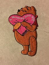 Disney Winnie the Pooh iron-on cloth embroidered patch as new 8 X  4.5 cm new