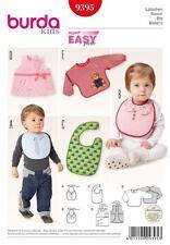 BURDA SEWING PATTERN SUPER EASY BABY ACCESSORIES   9395